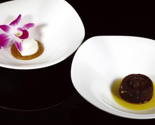 Nagerecht Topchef Tonny Berentsen Recept: Peer met chocoladebiscuit